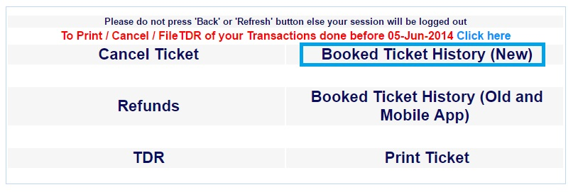 Change Boarding Station Online [Step 1- Booked ticket History New]