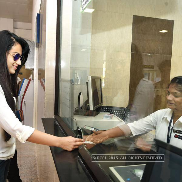 Trisha Getting Metro Train Ticket for travel