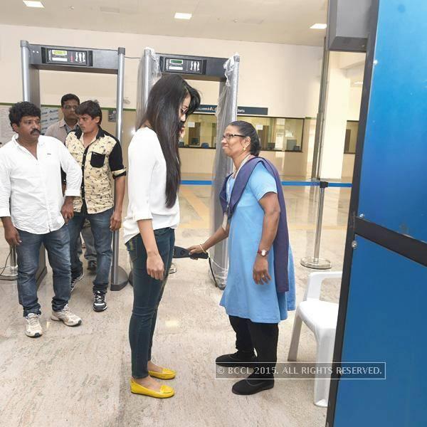 Trisha Went through security check at Alandur Chennai Metro Station