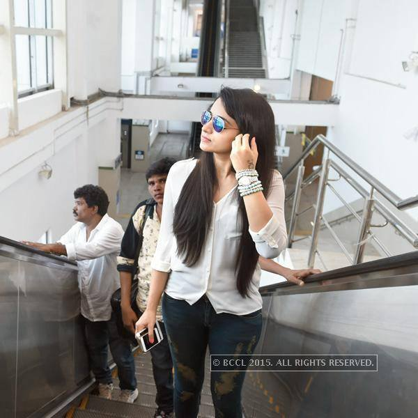 Trisha at Alandur Chennai Metro Station