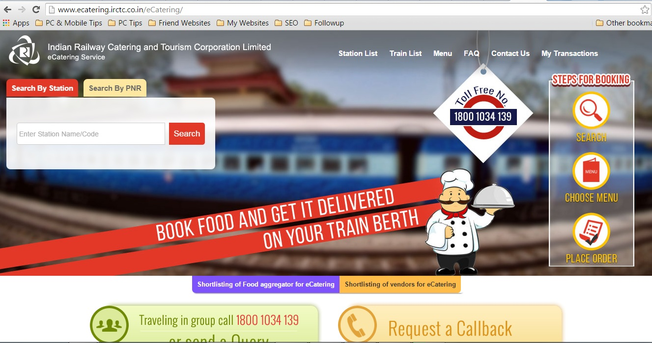 IRCTC-E-Catering-Home-Page