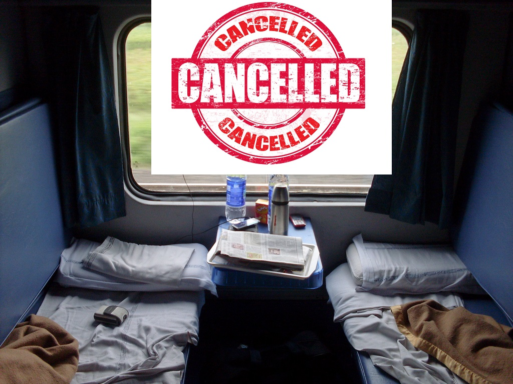 Indian Train AC Coach Cancellation
