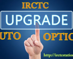 Consider for Auto Upgradation in IRCTC