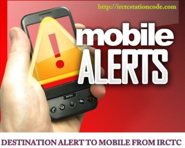 Set destination alert to Mobile in train travel