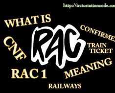 RAC Indian Railway