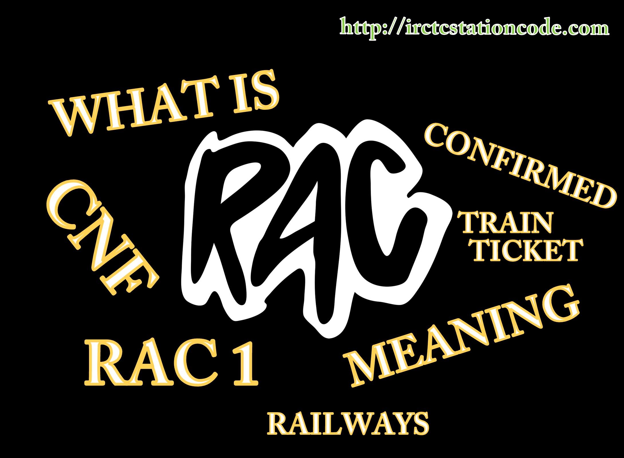 RAC Indian Railway